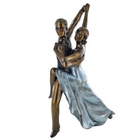 Strictly Rumba Dancing Couple Bronze Sculpture